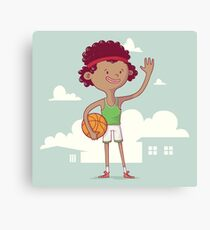 Basket boy Canvas Print