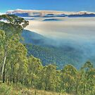 Kiewa Valley: Smoke from controlled burning. by johnrf