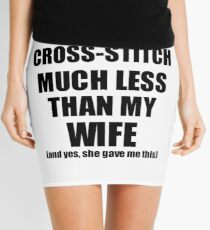 Cross-Stitch Husband Funny Valentine Gift Idea For My Hubby From Wife I Love Mini Skirt