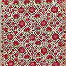 Bokhara Nim Suzani  Antique Uzbek Embroidery by Vicky Brago-Mitchell
