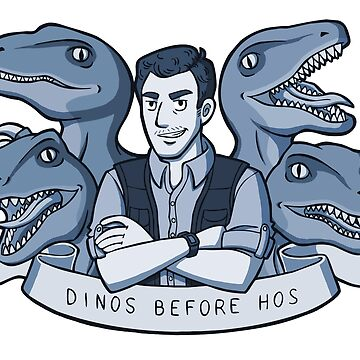 Dinos Before Hos (monochrome blue) by oriana132