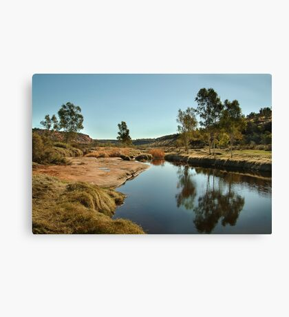 The Ancient Finke River at Palm Valley,N.T. Canvas Print