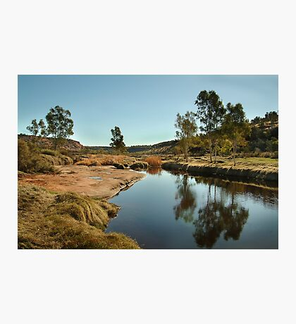 The Ancient Finke River at Palm Valley,N.T. Photographic Print