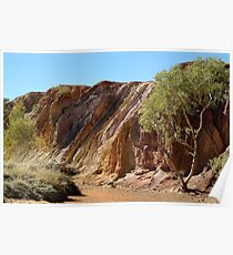 Ochre Pits,West McDonell Ranges,N.T. Poster