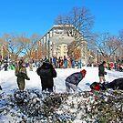 At Dupont Circle After A Snow Storm by Cora Wandel