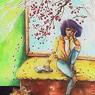 Melancholy Cherry Blossom by sillysallymoon