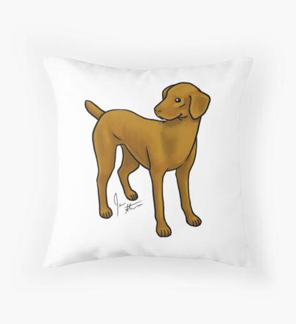 Vizla Throw Pillow