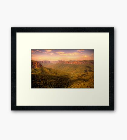 Leap of Faith - Govetts Leap, Blue Mountains World Heritage Area - The HDR Experience Framed Print
