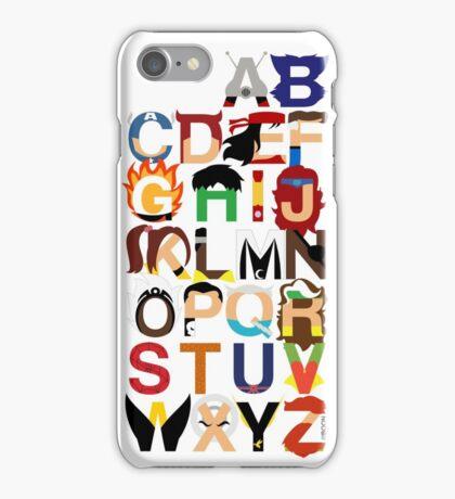 Marvelphabet iPhone Case/Skin