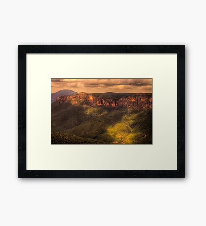 Chasing The Light - Govetts Leap - Blue Mountains World Heritage Area -The HDR Experience Framed Print