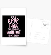 Es ist eine KPOP-Sache Postkarten