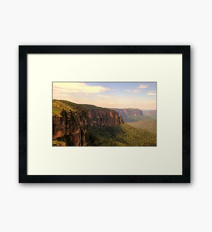 Leap Of Faith #2 - Govetts Leap - The HDR Experience Framed Print