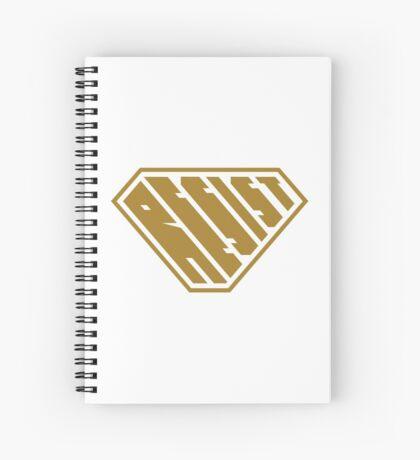Resist SuperEmpowered (Gold) Spiral Notebook