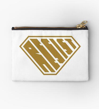 Resist SuperEmpowered (Gold) Zipper Pouch