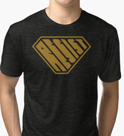 Resist SuperEmpowered (Gold) Tri-blend T-Shirt