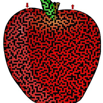 Apple Shaped Maze & Labyrinth by gorff