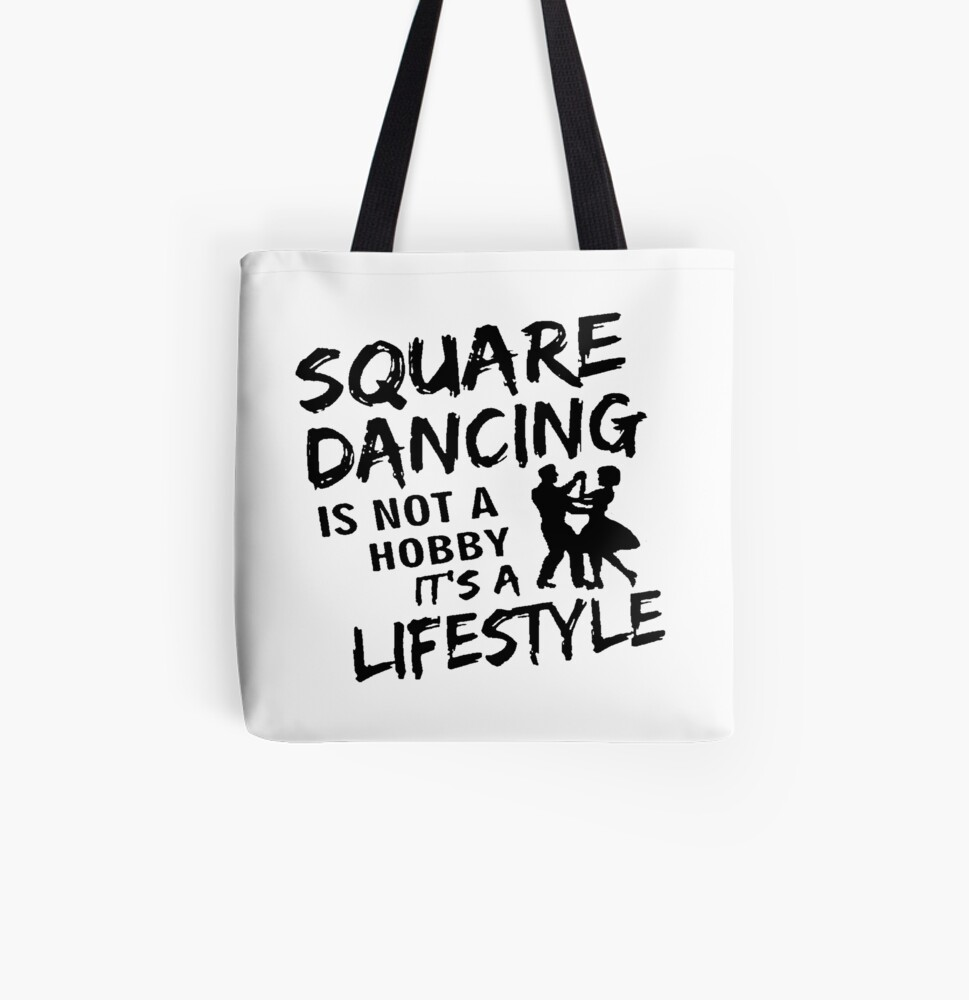 Lifestyle BLK All Over Print Tote Bag