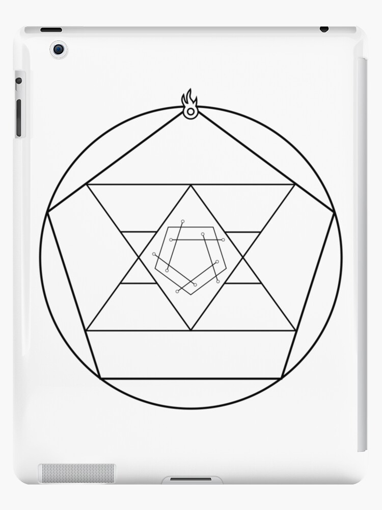 Reverse Flame Alchemy Symbol Ipad Cases Skins By Musicandwriting