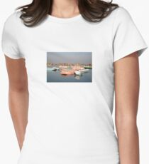 tranquil boats Womens Fitted T-Shirt