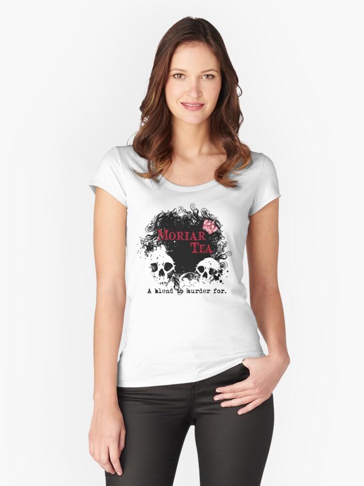 Moriar Tea 2 Women's Fitted Scoop T-Shirt Front