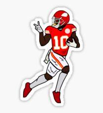 Tyreek Hill Funny Look Back Touchdown Celebration - Kansas City Chiefs Sticker