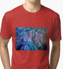 COBALT FURY Tri-blend T-Shirt