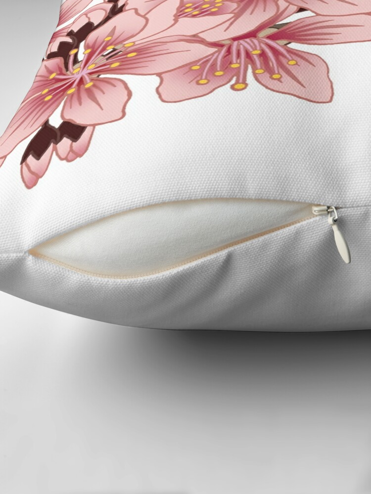 Alternate view of Cherry Blossom Branch Throw Pillow