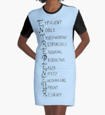 The Attributes Of An Entrepreneur Graphic T-Shirt Dress