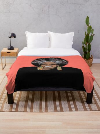 ME- Living Coral  Throw Blanket