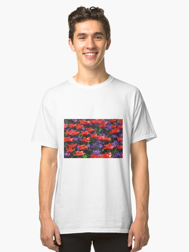 Red and purple Classic T-Shirt Front