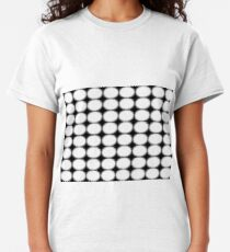 #abstract, #pattern, #design, #illusion, #art, #bright, #square, #shape Classic T-Shirt