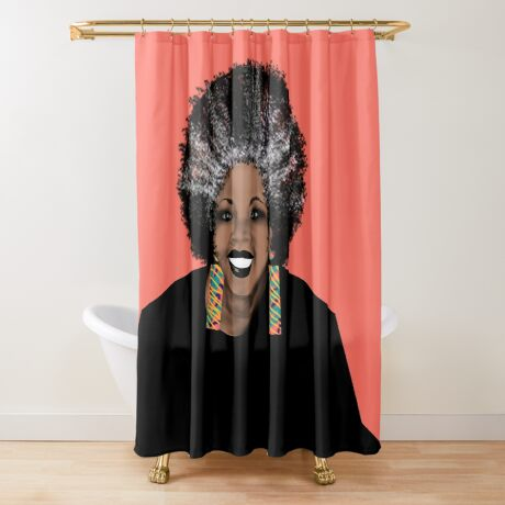 ME- Living Coral  Shower Curtain