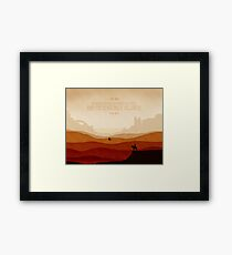 And The Gunslinger Followed Framed Print