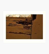 back door peel away Art Print