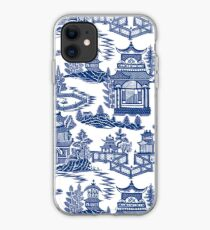 Blue Willow Ancient Ming China - Blue And White Chinoiserie  iPhone Case