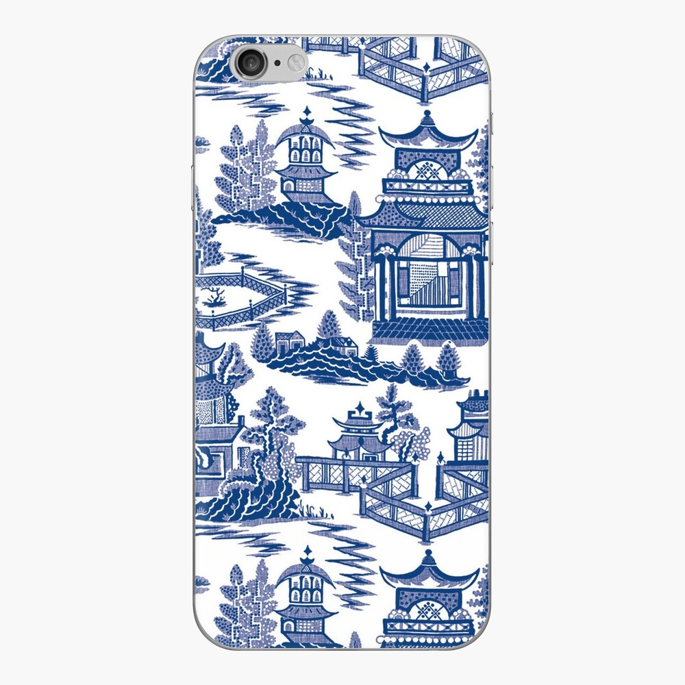 Ming China - Blue And White Chinoiserie iPhone Skin