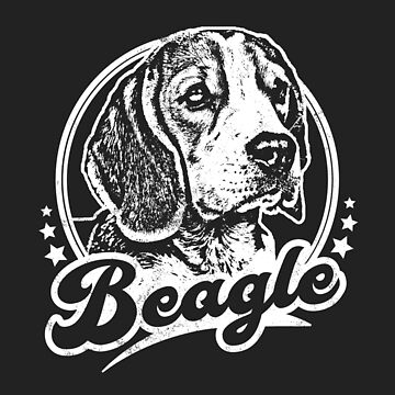 Beagle Pet Dog Retro Tribute by RycoTokyo81