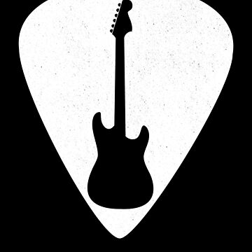 Guitar Pick Guitar Silhouette For Guitar Players by playloud
