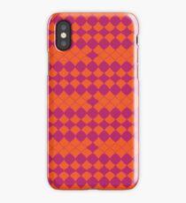Geometric Beauty (Orange) iPhone Case