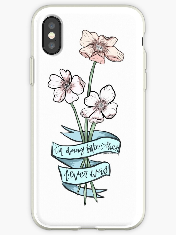cheap for discount 4ad17 70fcd 'TAYLOR SWIFT CIWYW LYRIC FLOWERS' iPhone Case by cpetts13