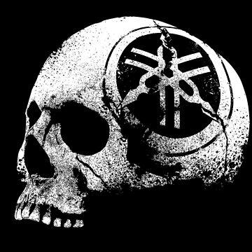 Skull Helmet-Yamaha Motor-Logo-Eroded-Motorcycle by carlosafmarques