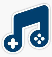 Music Gaming Logo - Blue Sticker