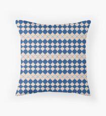 Geometric Beauty (Classic Blue) Throw Pillow