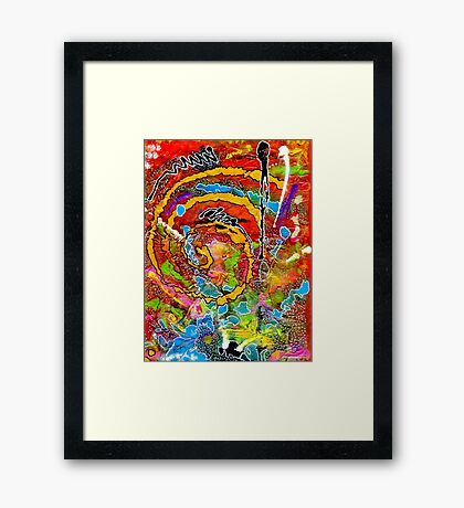 Red Wine and Jazz on a Snowy Night Framed Print