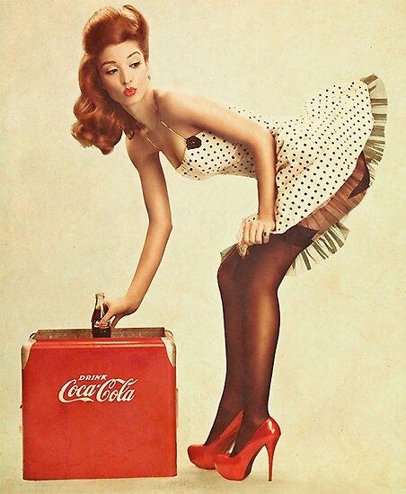 Pin-Up-Mädchen Coca Cola von ivoxRS