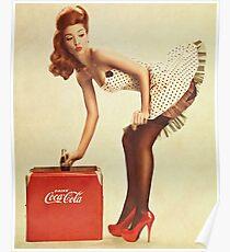 Pin-Up-Mädchen Coca Cola Poster