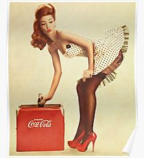 pin-up girl coca cola Poster