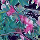 Cartoon summer pink flowers by annatsts