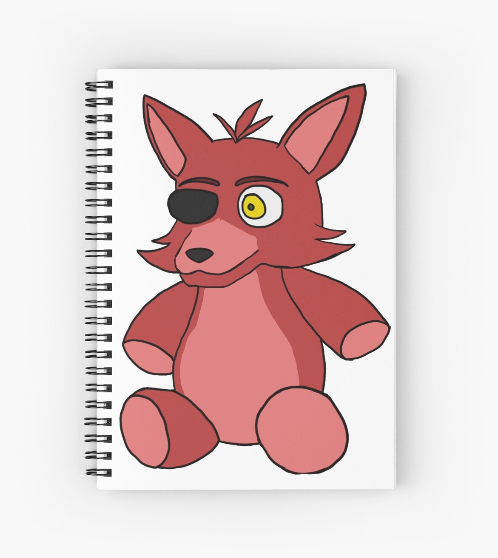 Fnaf Foxy Plush Spiral Notebooks By Panthergirl0352 Redbubble
