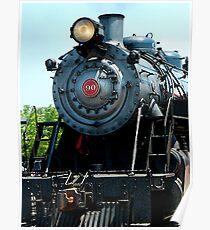 Great Western 90 Locomotive Poster